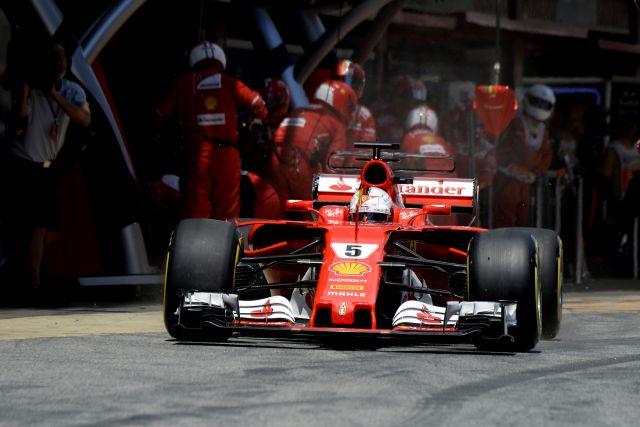 Sebastian Vettel Ferrari Spanish GP