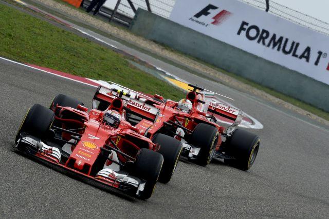Kimi Raikkonen & Sebastian Vettel Ferrari SF70H GP CHINA